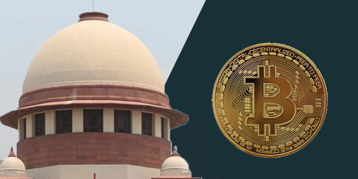 The Supreme Court of India giving a ruling in favor of the trading of cryptocurrencies